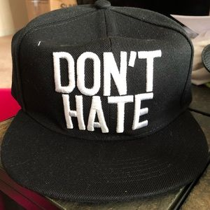 """Don't Hate"" Logo Hat"